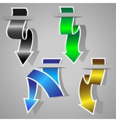 original arrow stickers set vector image