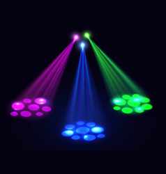 Club lights background spotlights effect vector