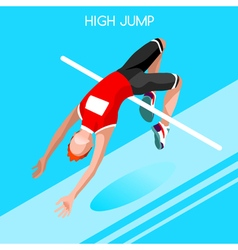 Athletics jump 2016 summer games isometric 3d vector