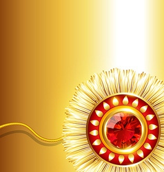 Beautiful rakhi background vector