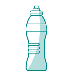 Blue silhouette shading sports bottle for liquids vector