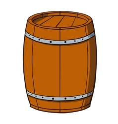 Cartoon barrel on white background vector image