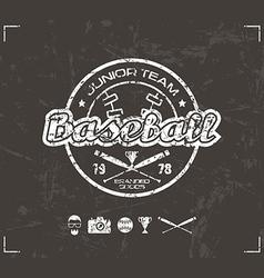 College baseball team emblem vector image vector image
