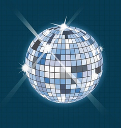 disco sphere vector image
