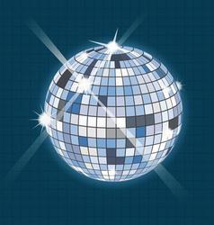 disco sphere vector image vector image