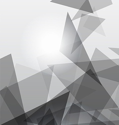 Grey geometric transparency vector image vector image