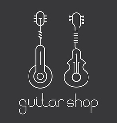 guitar shop vector image vector image