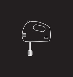 Hand mixer line icon outline sign vector