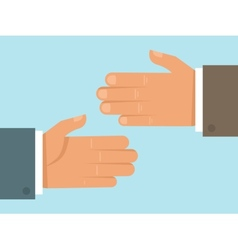 handshake concept in flat style vector image vector image