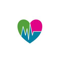 Heart pulse vector