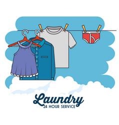 Laundry clothes icon vector