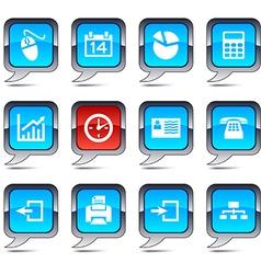 Office balloon icons vector