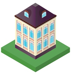 old house with two floors with windows vector image vector image