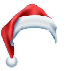 red hat santa isolated on white background vector image vector image