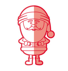 Red silhouette of santa claus standing vector