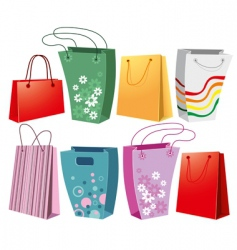 set of shopping bags vector image vector image