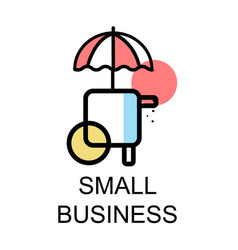 small store icon for small business on white vector image vector image
