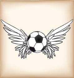 soccerangel vector image vector image