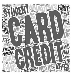 Student Credit Cards First Step To Financial vector image vector image