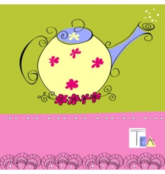 teapot card vector image vector image