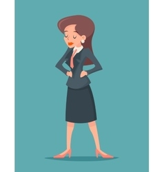 vintage businesswoman character icon on stylish vector image vector image