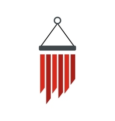 Wind chimes icon flat style vector