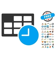 Date and time icon with 2017 year bonus pictograms vector