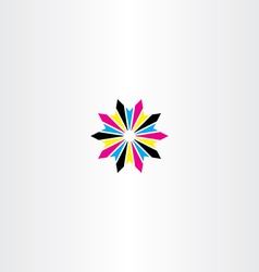 print cmyk abstract logo icon star vector image