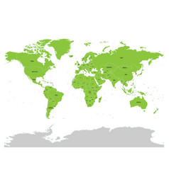 Map of united nation with green highlighted member vector