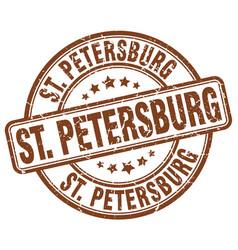 St petersburg brown grunge round vintage rubber vector