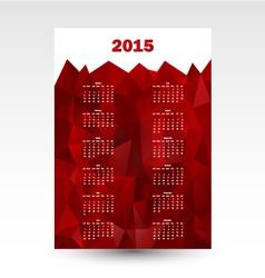 Wall calendar 2015 vector