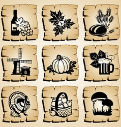 Icons autumn vector