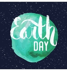 Lettering poster for earth day vector