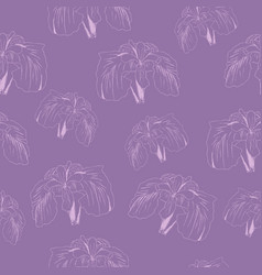 abstract floral lilac background hand drawn iris vector image