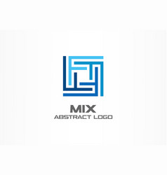 abstract logo for business company industry vector image