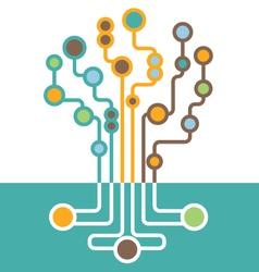 Abstract tech modern tree vector
