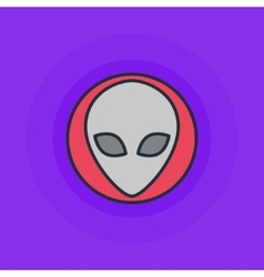 Alien flat icon vector