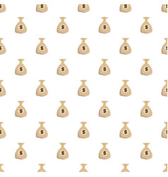 bag money pattern seamless vector image