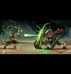 Battle vector image vector image