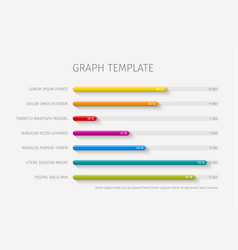 Column horizontal graph template vector