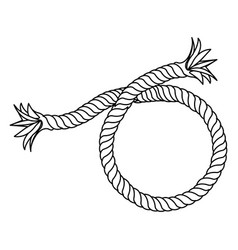 Contour realistic break rope icon vector