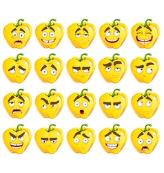 cute cartoon yellow Bulgarian pepper smiles vector image vector image