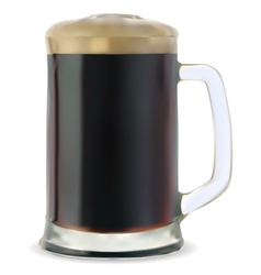 Dark beer vector image