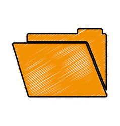 documents folder icon vector image vector image