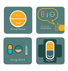 Drug store icon design vector image vector image