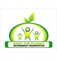 environment saving background vector image vector image