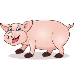funny pig cartoon vector image