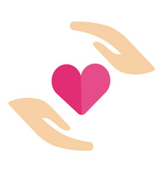 healthy human hand in perfect heart shape sharing vector image vector image