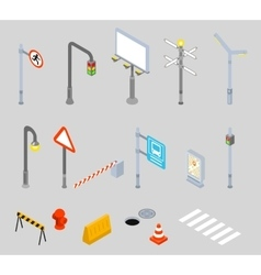 Isometric traffic management Urban 3D vector image vector image