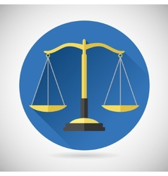 Law Balance Symbol Justice Scales Icon on Stylish vector image vector image